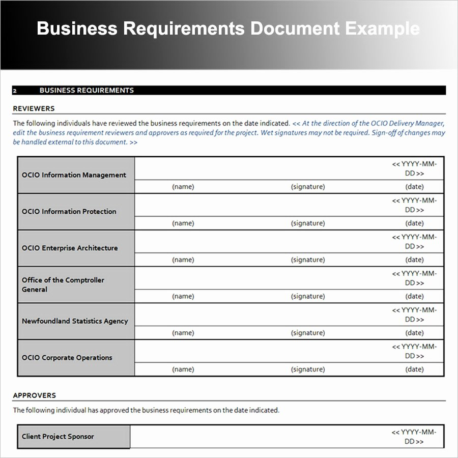 Sample Use Case Document New 12 Business Requirements Document Examples Pdf