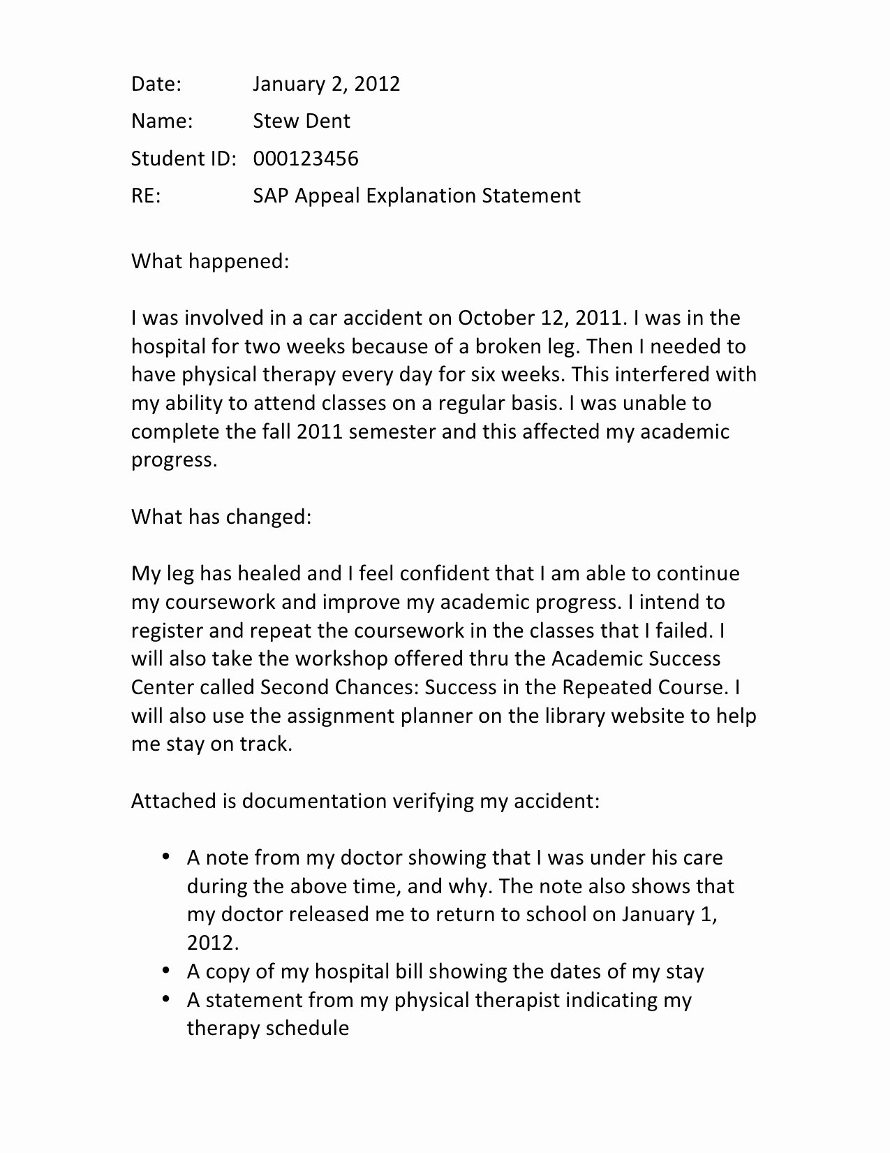 Sap Appeal Letter Best Of Writing A Successful Sap Appeal Financial Aid Wayne