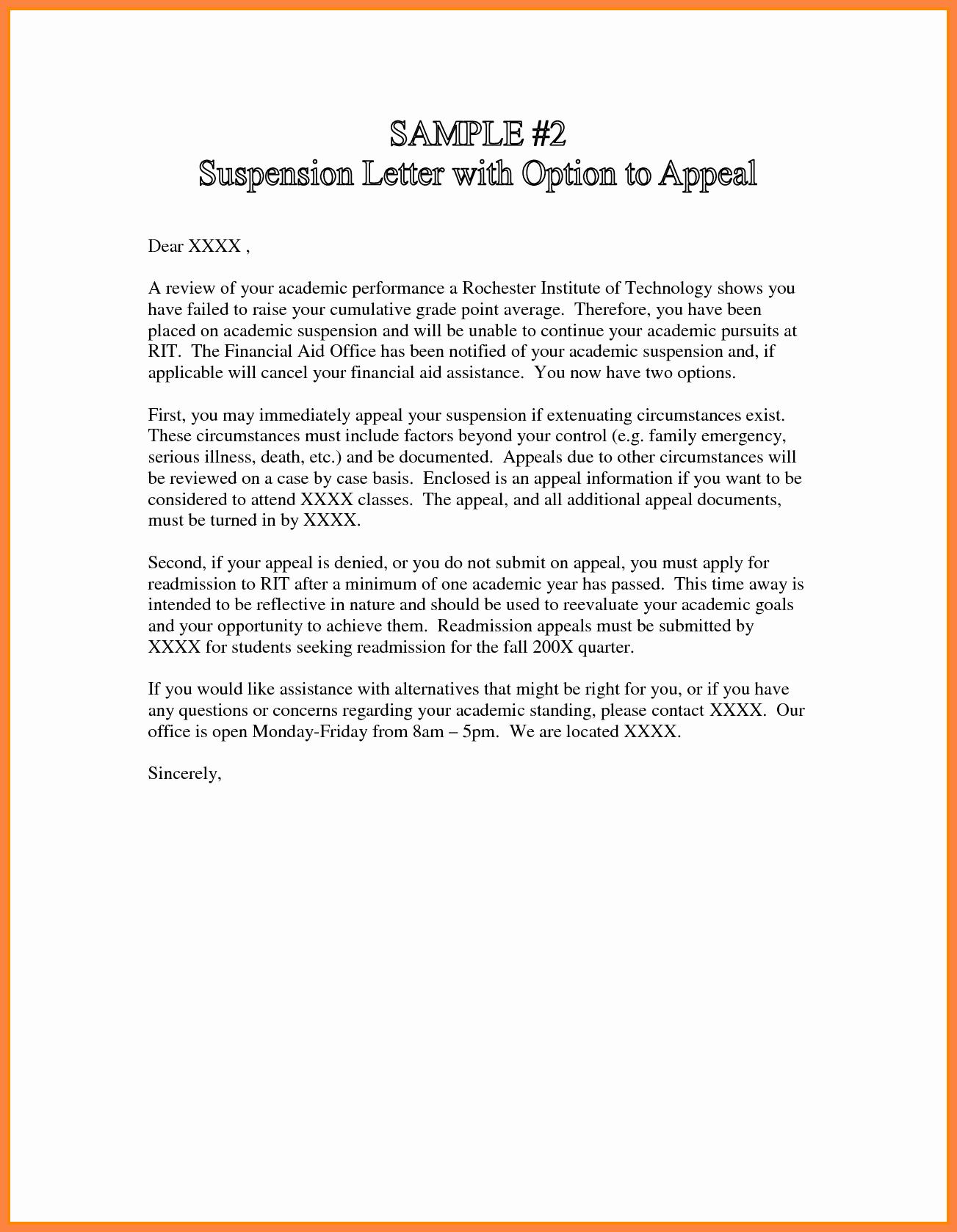 Sap Appeal Letter Example Fresh 7 Sap Appeal Letter