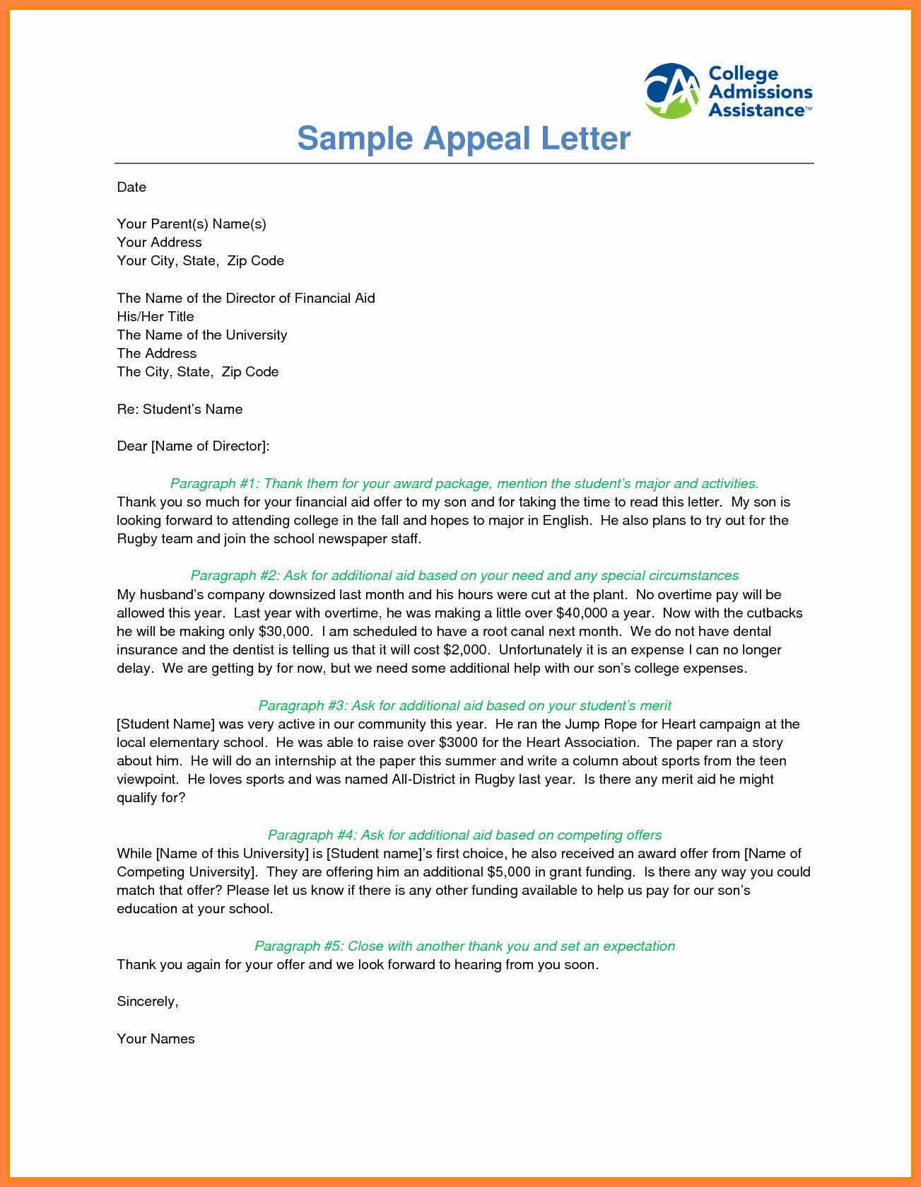 Sap Appeal Letter Inspirational 7 Sap Appeal Letter