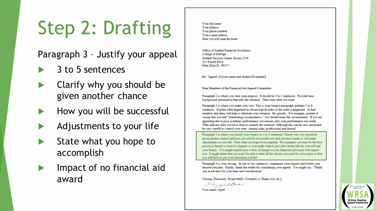 Sap Appeal Letter Inspirational How to Write An Sap Financial Appeal Letter