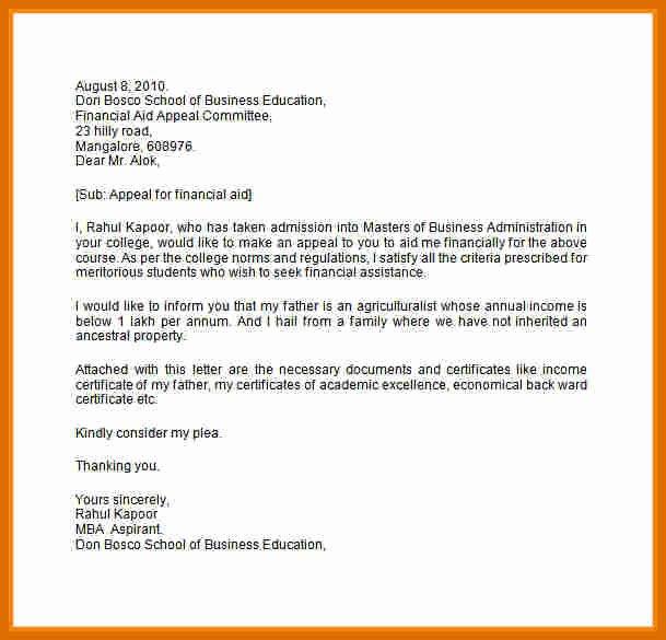 Sap Appeal Letter Lovely 8 9 Sap Appeal Letter Example