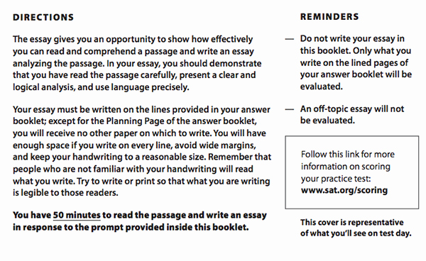 Sat Essay Paper Pdf Beautiful Plete Sat Instructions with Tips and Strategies