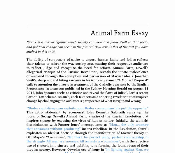 Satire Essay On Texting Beautiful Satire In Animal Farm A Modest Proposal and A Political