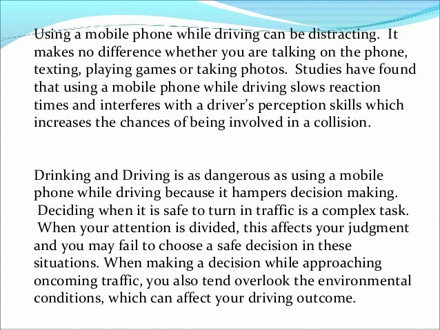 Satire Essay On Texting Elegant Phone Use while Driving as Dangerous as Dui