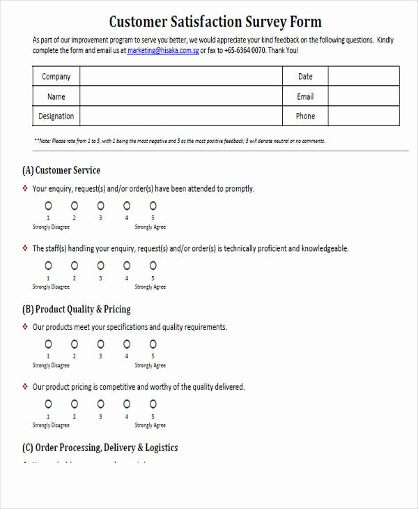 Satisfaction Survey Template Word Best Of Printable Survey form 55 Examples In Pdf Word