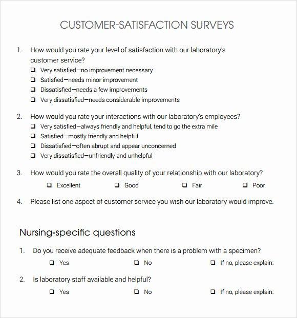 Satisfaction Survey Template Word Elegant 13 Sample Customer Satisfaction Survey Templates to