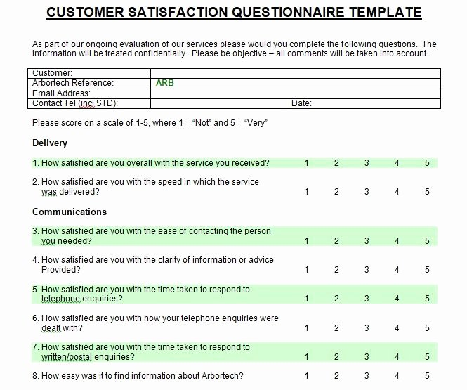 Satisfaction Survey Template Word Unique Printable Customer Satisfaction Survey Template Microsoft
