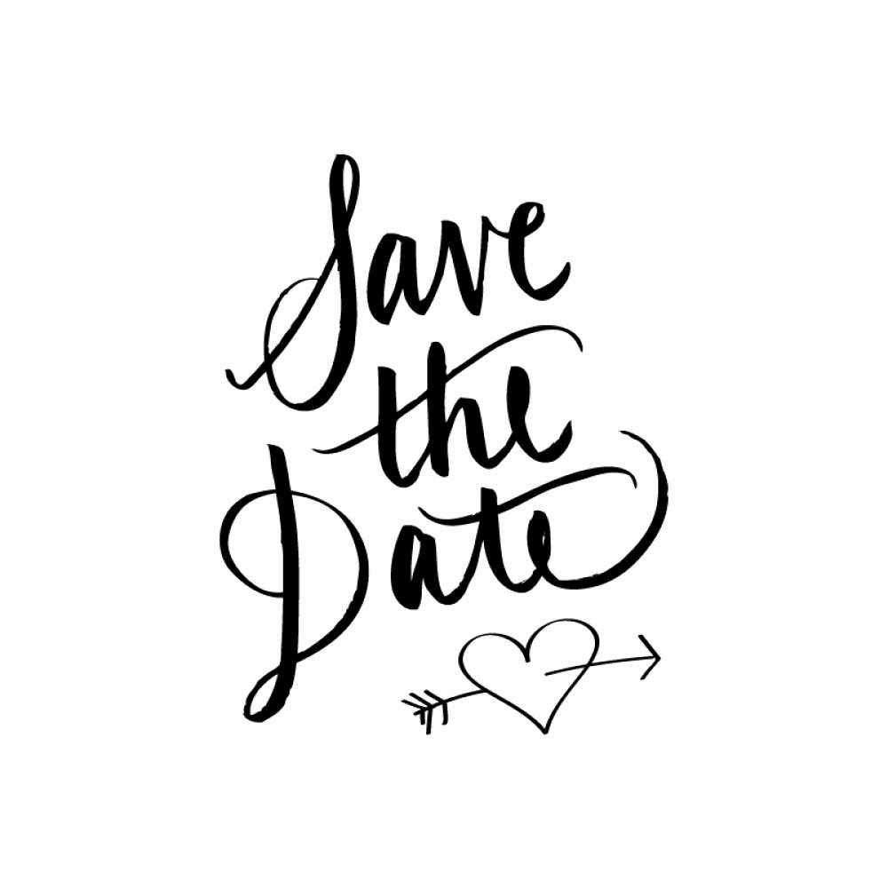 Save the Date Text Template Beautiful Save the Date Calligraphy Rubber Stamp Wed