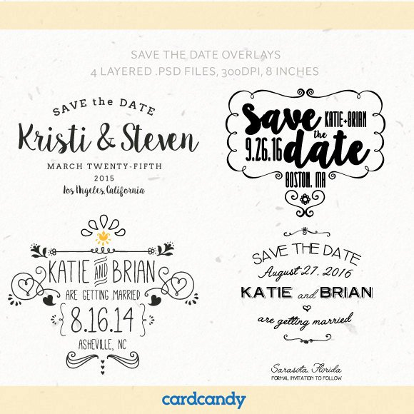 Save the Date Text Template Best Of Digital Save the Date Overlays Wedding Card