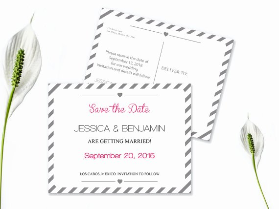 Save the Date Text Template Fresh Save the Date Postcard Templates Silver Grey Carnival