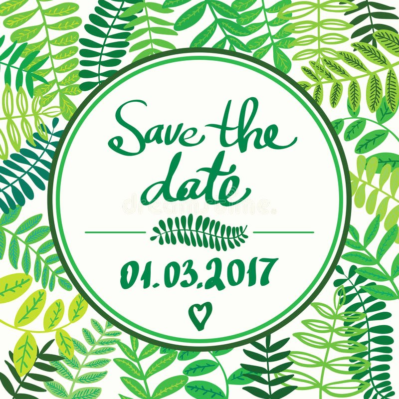 Save the Date Text Template Lovely forest Colorful Leafs Text Template Save the Date Light