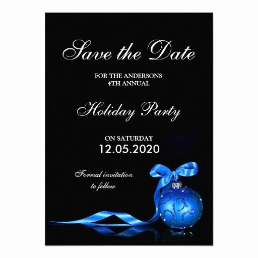 Save the Date Text Template Lovely formal Holiday Party Invitation Save the Date