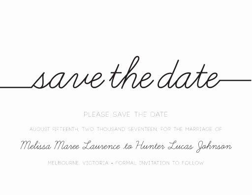 Save the Date Text Template Luxury Cursive Letterpress