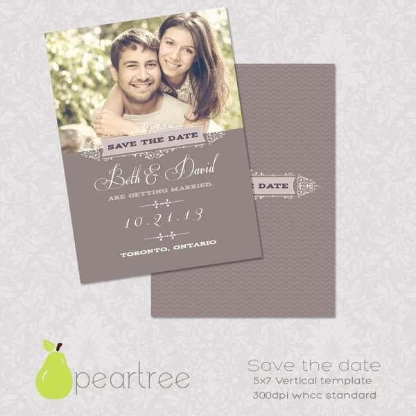 Save the Date Text Template Unique 5x7in Save the Date Psd Template 106 Print