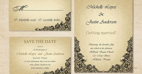 Save the Date Text Template Unique Wedding Invitation Lace Wedding Invitation Save the