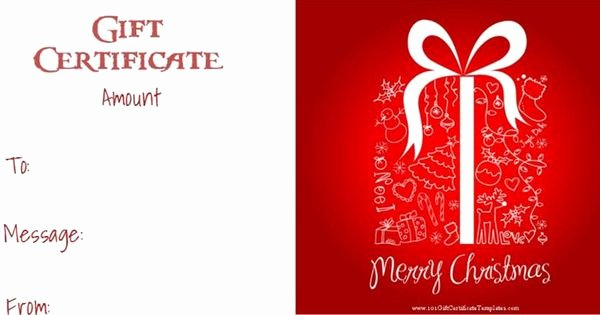 Scentsy Gift Certificate Template Awesome Christmas Gift Certificate Templates that Can Be