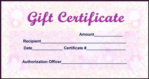 Scentsy Gift Certificate Template Fresh Certificate Templates