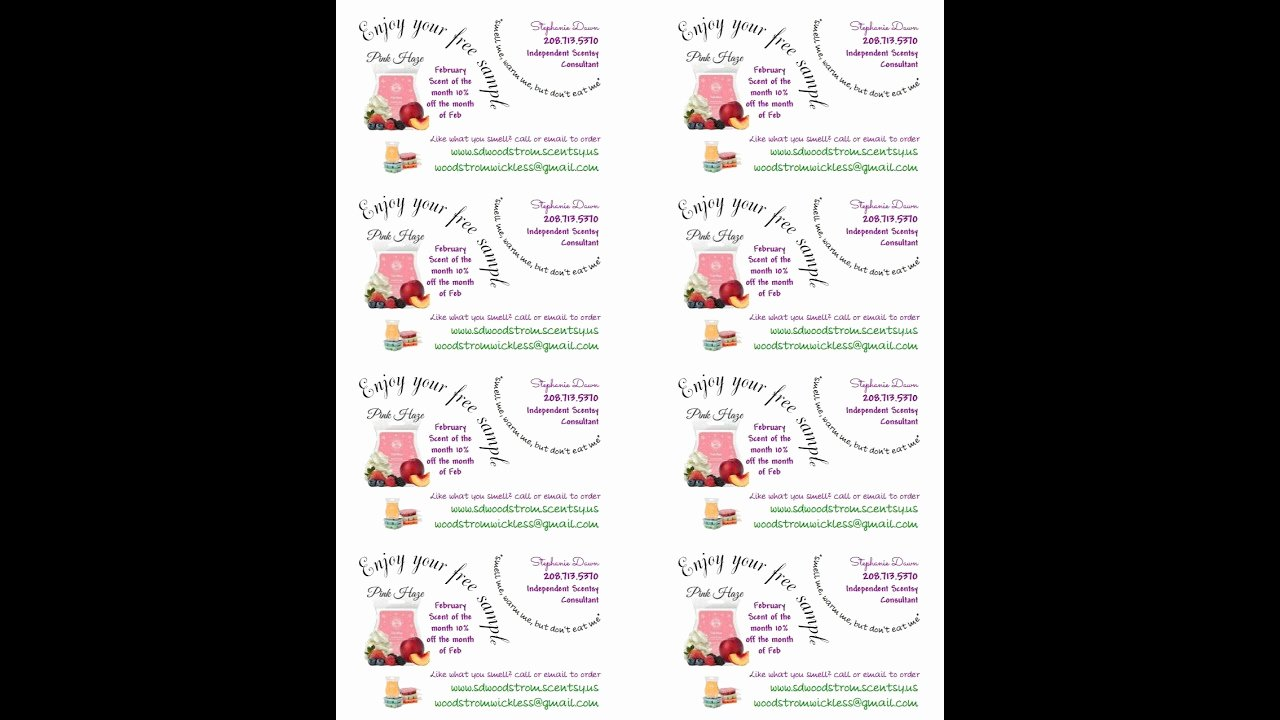 Scentsy Label Template 1502 Best Of Scentsy Sample Label Template
