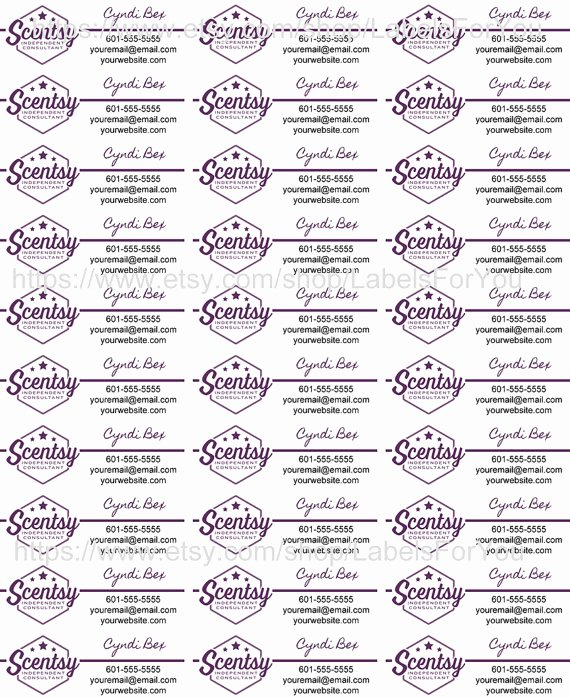 Scentsy Label Template 1502 Elegant Scentsy Label Template 1500