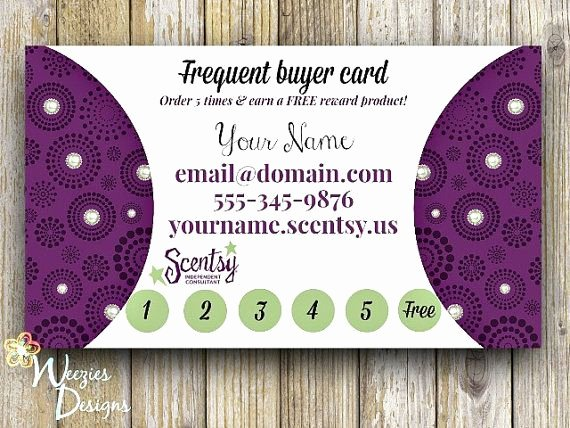 Scentsy Loyalty Cards Awesome Pin by Direct Sales Training & Healthy Living On Creative