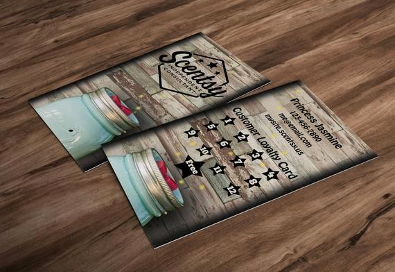Scentsy Loyalty Cards Awesome Vertical Rustic Wood Scentsy Frequent Buyer by