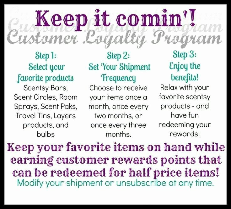 Scentsy Loyalty Cards Best Of Scentsy Customer Loyalty Program S Melelbert