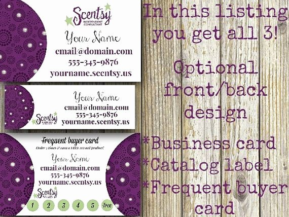 Scentsy Loyalty Cards Elegant Scentsy Frequent Customer Card the Slur