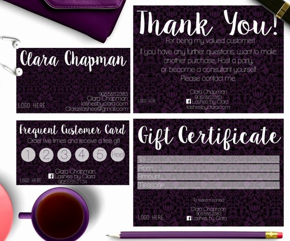 Scentsy Loyalty Cards Elegant Younique Business Cardsward Card T by Opheliafpg On Etsy