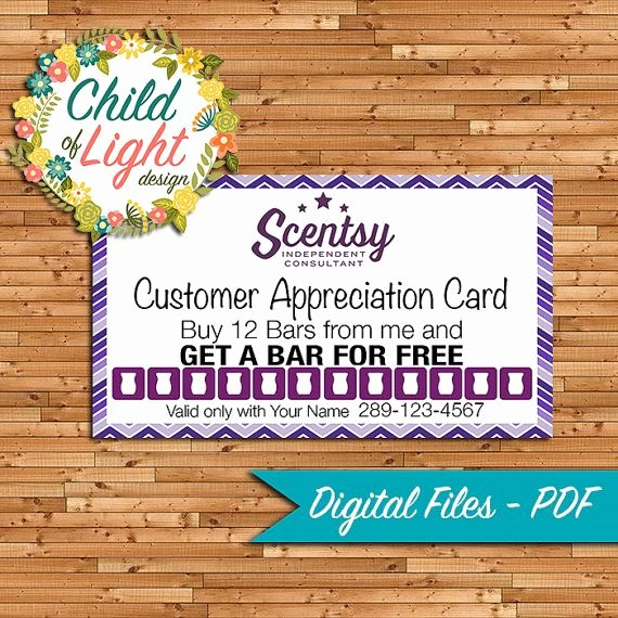 Scentsy Loyalty Cards Fresh Authorized Scentsy Vendor Business Cards Independent