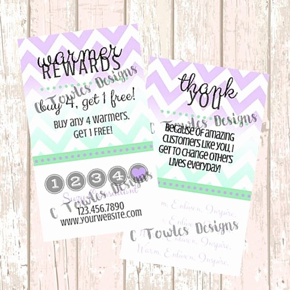 Scentsy Loyalty Cards Lovely Scentsy Purple Warmer Customer Rewards Card by Ctowlesdesigns