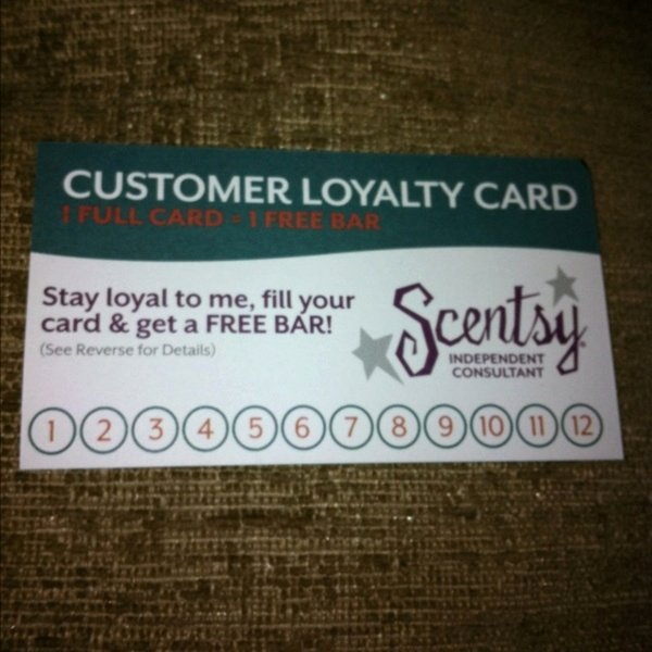 Scentsy Loyalty Cards Luxury Free Scentsy Loyalty Card Great for the Scentsy