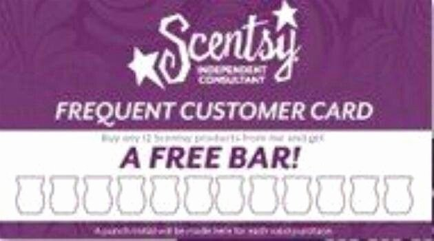 Scentsy Loyalty Cards Luxury Frequent Customer Card