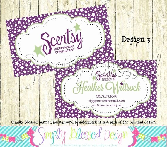 Scentsy Loyalty Cards Luxury Scentsy Double Sided Business Card Diy by by