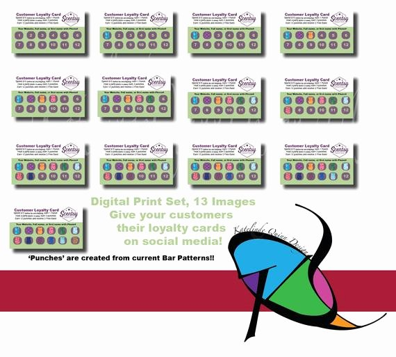 Scentsy Loyalty Cards Luxury Scentsy Independent Consultant 13 Image by