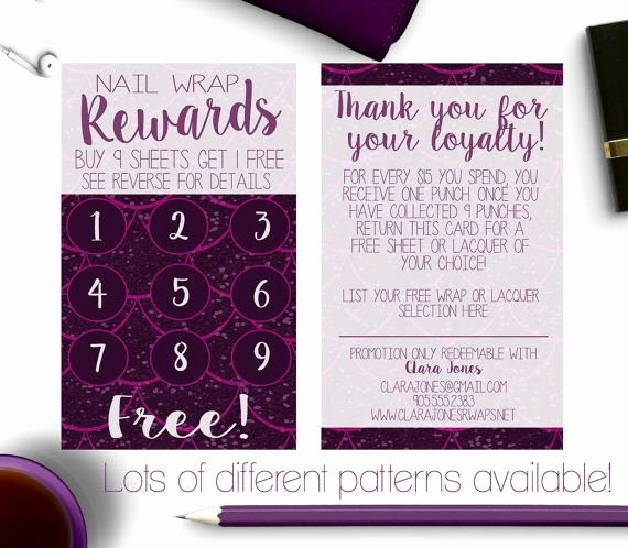 Scentsy Loyalty Cards Luxury Younique Business Cards Rewards Card Loyalty Card Jamberry