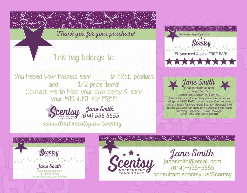 Scentsy Loyalty Cards Unique New Scentsy Logo Business Bundle Custom Printable Digital