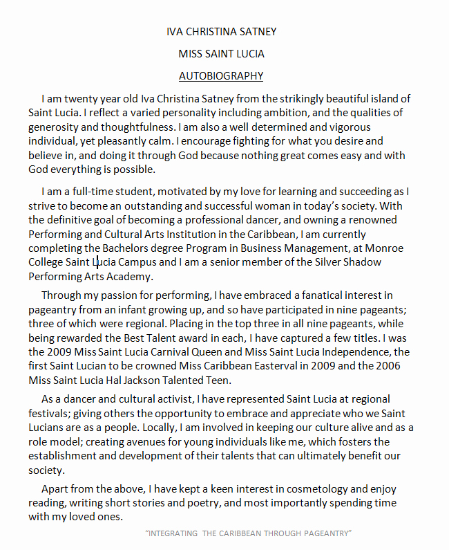 Scholarship Biography Essay Examples Lovely Autobiography Example Layouts
