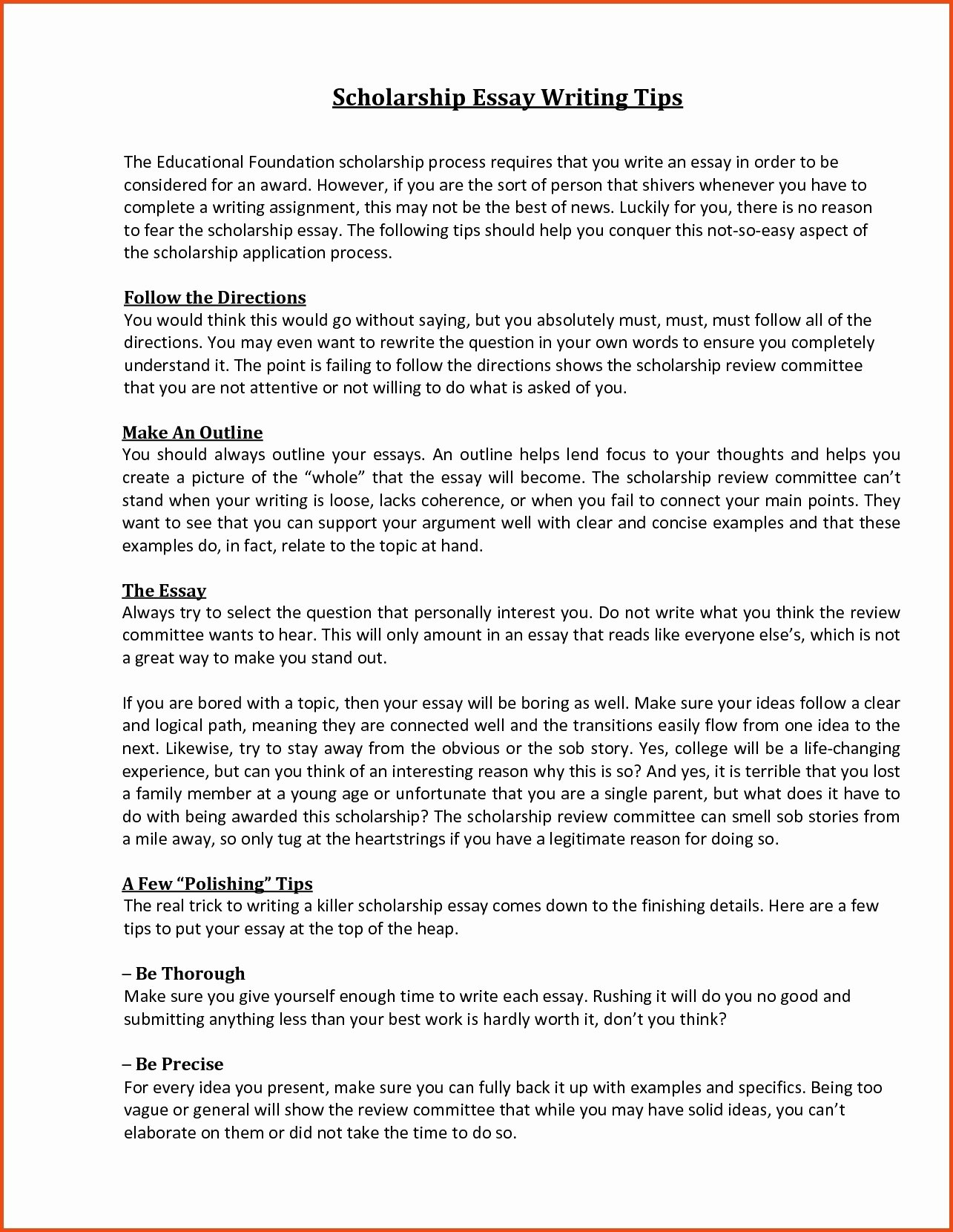 Scholarships Essays Examples About Yourself Awesome Scholarship Essay format Sample