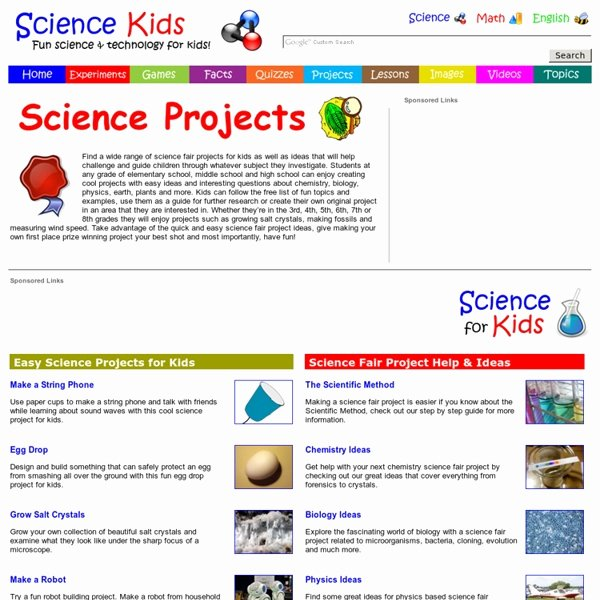 Science and Technology topics Beautiful Science Fair Projects for Kids Easy Ideas Free List Of