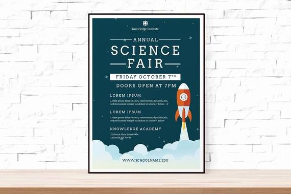 Science Fair Project Template Word New Diy Printable School Science Fair Flyer Template Word Flyer