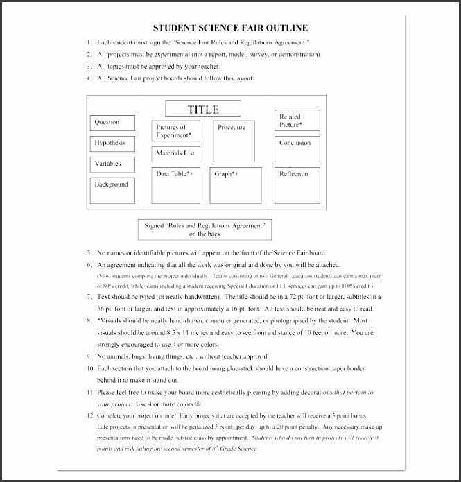 Science Fair Project Template Word Unique 9 Academic Project Outline Template Sampletemplatess