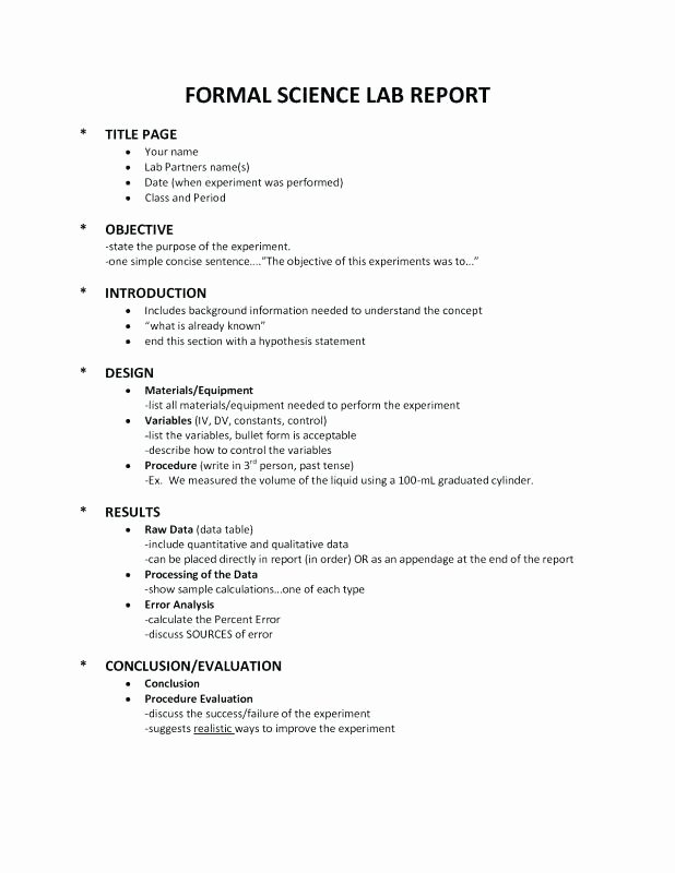 Science Fair Proposal Sheet Awesome 10 formal Lab Report format High School