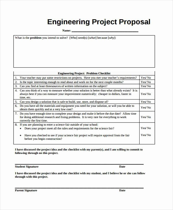 Science Fair Proposal Sheet Best Of 9 Project Proposal form Samples Free Sample Example