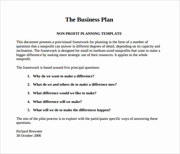 Score Business Plan Templates Best Of 22 Non Profit Business Plan Templates Pdf Doc