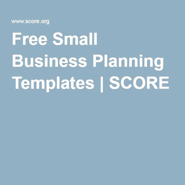 Score Business Plan Templates Inspirational Free Small Business Planning Templates