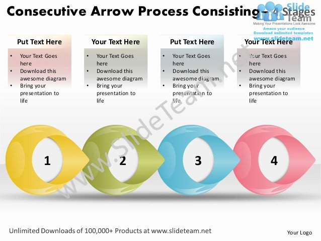 Score Business Plan Templates Lovely Consecutive Arrow Process Consisting 4 Stages Score