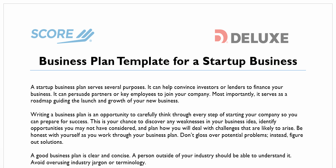 Score Business Plan Templates Luxury How to Write A Business Plan for Your Online Business