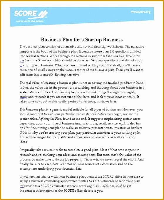 Score Business Plan Templates New 4 Score Financial Templates – Latter Example Template