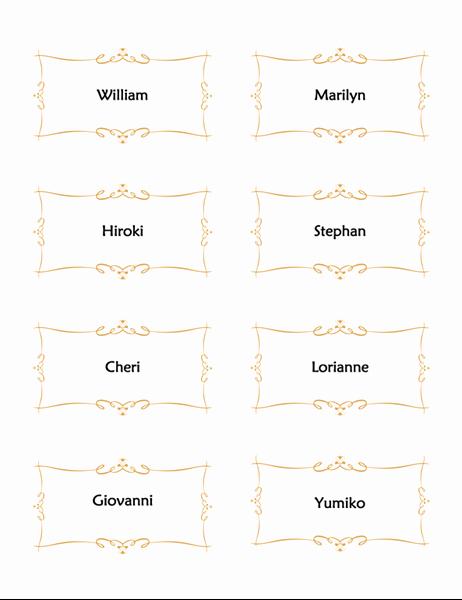 Scroll Template Word Elegant Wedding Program Heart Scroll Design